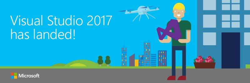 Happy 20th Anniversary of Visual Studio! VS 2017 has landed!